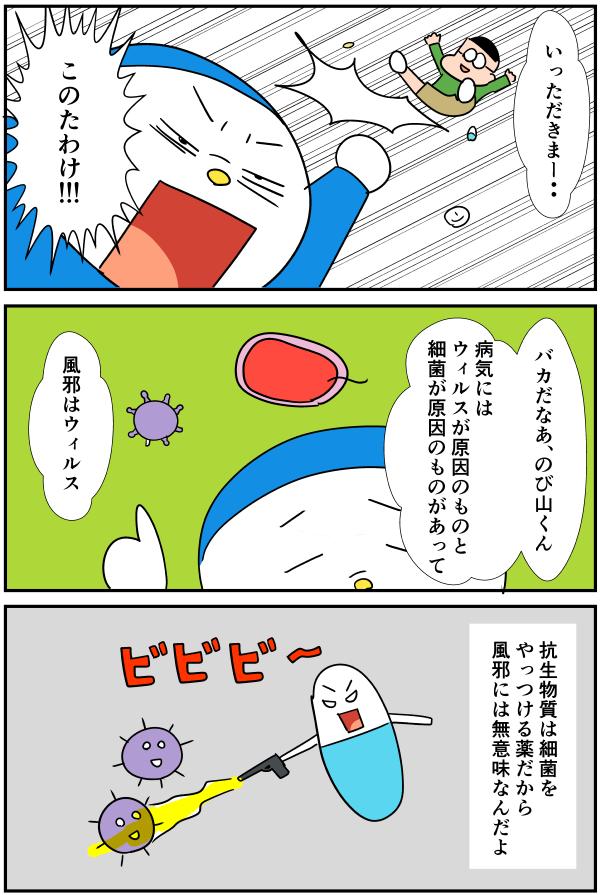 漫画「細菌とウィルスの違いとは」アイキャッチ